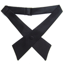 TOPTIE Adjustable Solid Color Criss-Cross Bow Tie, School Uniform Cross Necktie