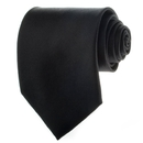 TOPTIE Polyester Solid Color Necktie, Men's Formal Tie For Work