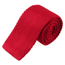 TOPTIE Men's Skinny Square Bottom Knit Tie, Adult Solid Color Tie