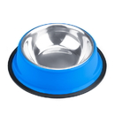 Brybelly 8oz. Blue Stainless Steel Dog Bowl