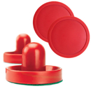 Brybelly Pair of Air hockey Pucks and Paddles (Full Size)