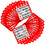 Brybelly 100 Pack of Red Bingo Cards