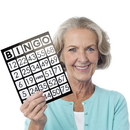 Brybelly  EZ Readers Jumbo Bingo Cards, Pack of 25