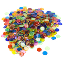 Brybelly 1000 Pack Mixed Colored Bingo Chips (7 Different Colors)