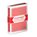 Brybelly Red Deck, Wide Size, Plastic Coated, Standard Playing Cards