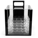 Brybelly 1,000 Ct Acrylic Chip Carrier with 10 Acrylic Chip Trays