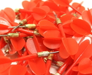 Brybelly 144 Pack Red Metal Tip Brass Balloon Darts