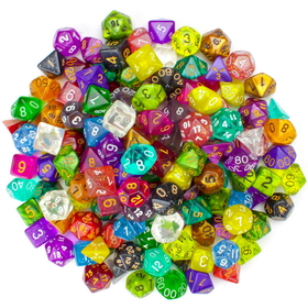 Brybelly 100+ Pack of Random Polyhedral Dice, Seri...