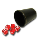 Brybelly 5 Red 19mm Dice with Synthetic Leather Cup