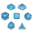 Brybelly 7 Die Polyhedral Set in Velvet Pouch, Diamond Dust