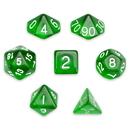 Brybelly 7 Die Polyhedral Set in Velvet Pouch, Sylvan Spirits
