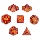 Brybelly 7 Die Polyhedral Set in Velvet Pouch, Dragon Scales