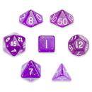Brybelly 7 Die Polyhedral Set in Velvet Pouch, Arcane Aura