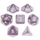 Brybelly 7 Die Polyhedral Set in Velvet Pouch, Drowskin