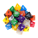 Brybelly 25 Pack of Random D8 Polyhedral Dice in Multiple Colors