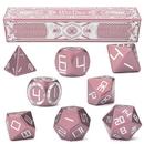 Brybelly Set of 8 Aurora Pink Precision Aluminum Polyhedrals