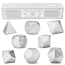 Brybelly Set of 8 Mithril Silver Precision Aluminum Polyhedrals