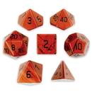 Brybelly Set of 7 Handmade Stone Polyhedral Dice, Red Jasper