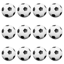Brybelly 12 Black and White Soccer Style Foosballs