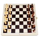Brybelly 14in Natural Folding Wooden Chess Game