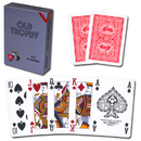 Brybelly Modiano Old Trophy Poker Playing Cards - Red