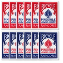 Brybelly 12 Decks of Bicycle Pinochle Jumbo Red & Blue
