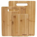 Brybelly Natural Bamboo 3 Piece Cutting Board Set