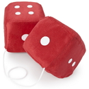 Brybelly Pair of Red 3in Hanging Fuzzy Dice