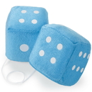 Brybelly Pair of Blue 3in Hanging Fuzzy Dice