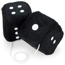 Brybelly Pair of Black 3in Hanging Fuzzy Dice