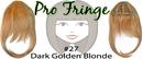 Brybelly #27 Dark Golden Blonde Pro Fringe Clip In Bangs