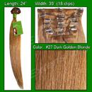 Brybelly #27 Dark Golden Blonde - 24 inch