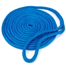 Brybelly 15' Double-Braided Nylon Dockline, Blue