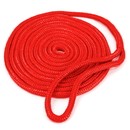 Brybelly 15' Double-Braided Nylon Dockline, Red