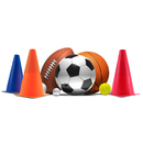 Brybelly Set of 6 - 9'' Sport Cones in Vivid Colored Vinyl