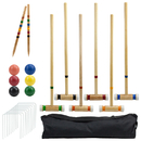Brybelly 6 Player Outdoor Croquet Set with Deluxe Carrying Case