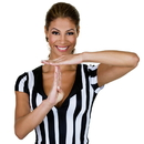 Brybelly  Women's Official Striped Referee/Umpire Jersey, L