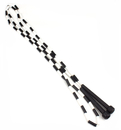 Brybelly Black and White 7-foot jump rope with plastic segmentation
