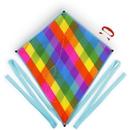 Brybelly Rainbow Plaid Diamond Kite