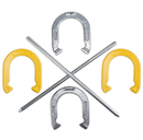 Brybelly Professional Steel Horseshoe Set with Carrying Case