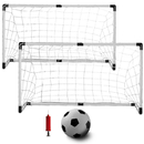 Brybelly Set of Two Youth Soccer Goals with Soccer Ball and Pump