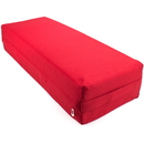 Brybelly Large 26-inch Red Yoga Bolster and Meditation Pillow