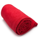 Brybelly Red Non-Slip Microfiber Hot Yoga Towel with Carry Bag