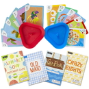 Brybelly Set of 4 Classic Children's Card Games with 2 Card Holders
