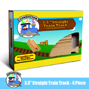 Brybelly (4) 3.5 Inch Straight Wooden Train Tracks by Conductor Carl