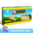 Brybelly (4) 6 Inch Curved Wooden Train Tracks by Conductor Carl