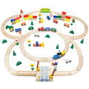 Brybelly Conductor Carl 100 Piece Wooden Train Set