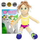 Brybelly Runner Girl Ella Read & Play Doll and Book Set