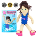 Brybelly Swimmer Girl Suzi Read & Play Doll and Book Set