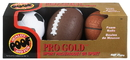 Brybelly Pro Gold Mini Foam 3 Ball Sports Pack